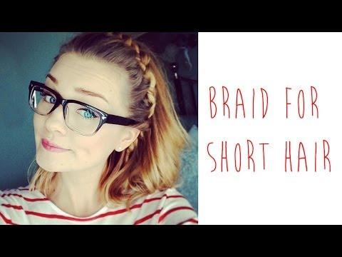 HOW-TO: BRAID FOR SHORT HAIR   tinytwisst - YouTube