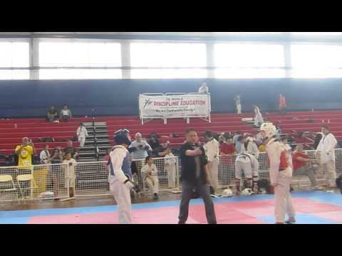 16 year old girls sparring Tae Kwon Do tournament - Queens College Image 1