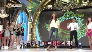 Eunji Chen singing Tears