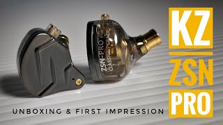 🔥 KZ ZSN PRO | Unboxing & First Impression Indonesia