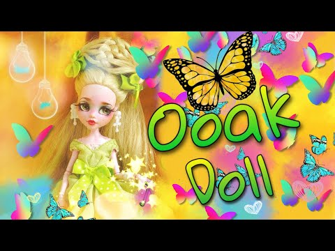 How to Make OOAK Tinker Bell Monster High repaint doll