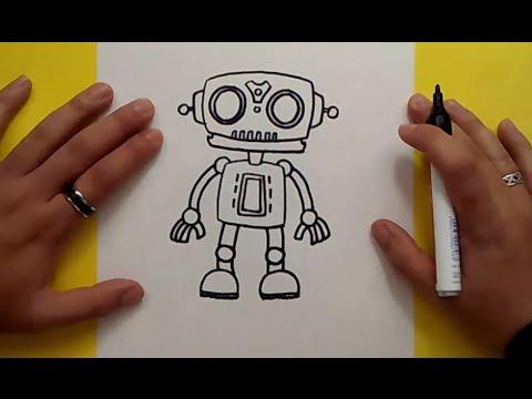 Worksheet. Como dibujar un robot paso a paso 6  PintayCreaoverblogcom