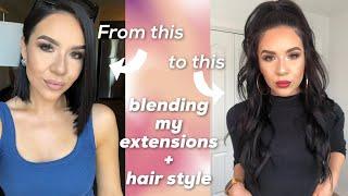 Blending Extension with Short Hair  irresistible me Hair   KatEyedTv