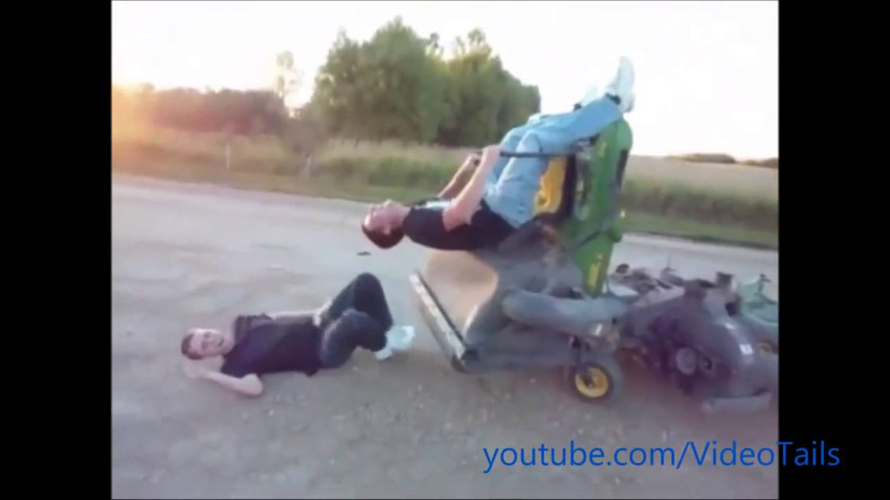 Lawn Mower Racing >> Lawn Mower Accidents Compilation - YouTube