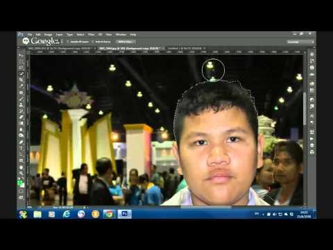 แต่งรูป ตัดต่อรูปด้วยการใช้โปรแกรม Photoshop CS6 [diecut Hair]