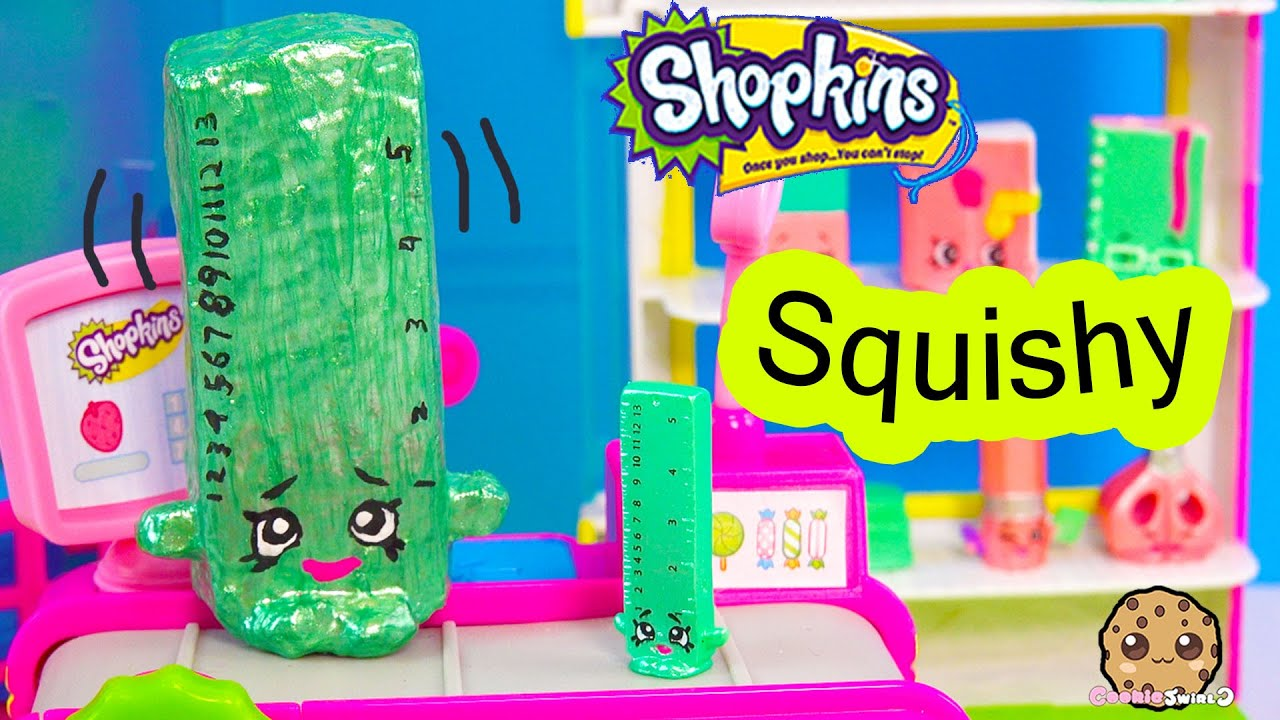 Squishy Ball Physics : DIY Craft Squishy Shopkins Season 3 Special Edition Rita Ruler Make & Do It Your Self How To ...