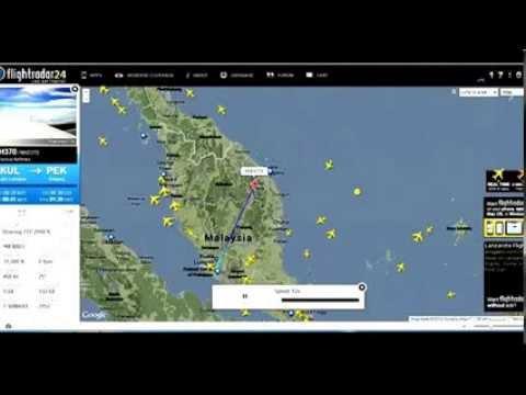 Malaysian Missing Flight MH 370 is found in Flight Radar?