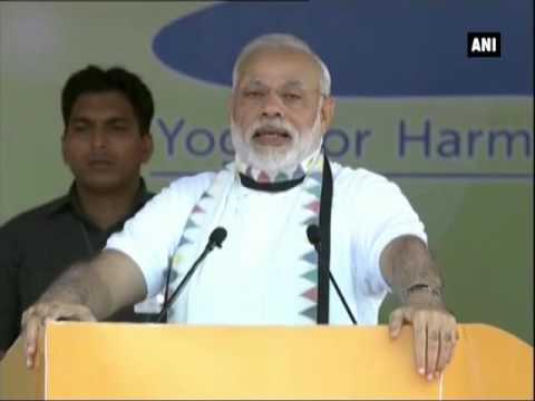 PM Modi emphasis on practising most selfless art, Yoga - ANI News