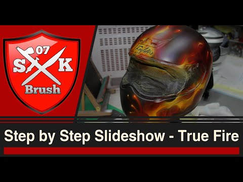 Step by Step Slideshow - True Fire Airbrush on Fighterhelmet
