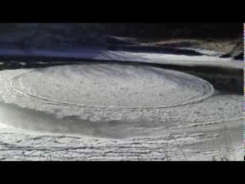 Amazing spinning ice circle spotted in Sheyenne River