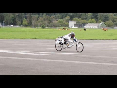 New Rocket Bicycle record 285 km/h in Interlaken airport!