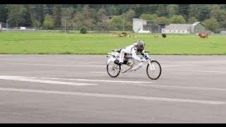 New Rocket Bicycle record 285 km/h in Interlaken airport!
