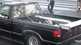 Truck Bed Mounted TURBO S-10 is FAST!