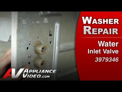 Water Inlet Valve - Washer Repair (Whirlpool # 3979346 Replacement Part)