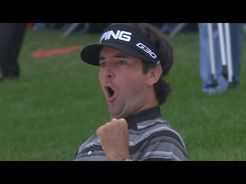 Bubba Watson's phenomenal eagle hole out from bunker at HSBC