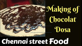 Making Of Chocolate Dosa Recipe - Chennai Street Food