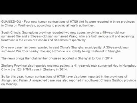1MIN NEWS 20  Cases of H7N9 Bird Flu Cases Report This Year In China