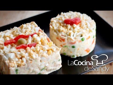 Ensalada rusa o ensaladilla en recetas de cocina facil para navidad