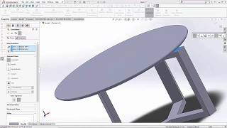 Basic drawing instructions for SolidWorks - sofa table.