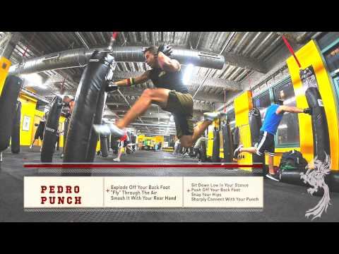 Kickboxing Heavy Bag Workout™   | v95 | Pedro Punch |  Jumping Super Man Punch Image 1