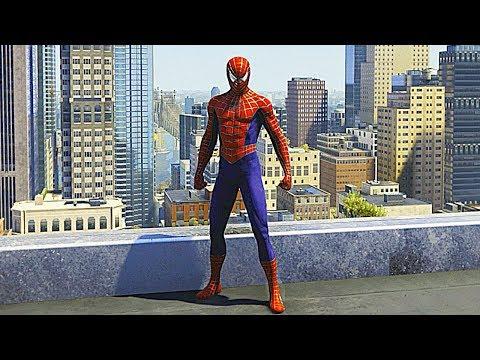 SPIDER-MAN PS4 Sam Raimi Suit Free Roam Gameplay (SPIDERMAN PS4 Silver Lining DLC)