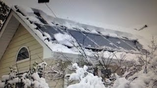 Review- Should you remove snow from your solar panels?  Sno Pro 23' telescoping pole