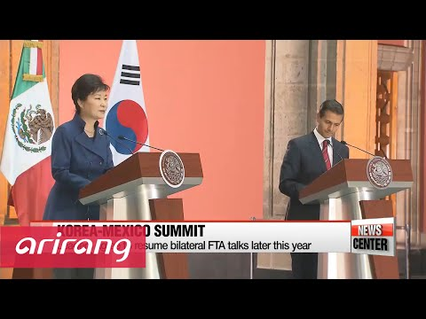 Korea, Mexico agree to boost economic relations, restart FTA talks