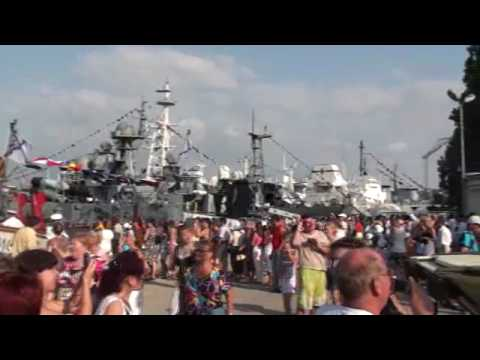 07-25-2010 Part 25 of 31 - Waiting to tour a Russian ship at Sevestopol, Crimea, Ukraine.wmv