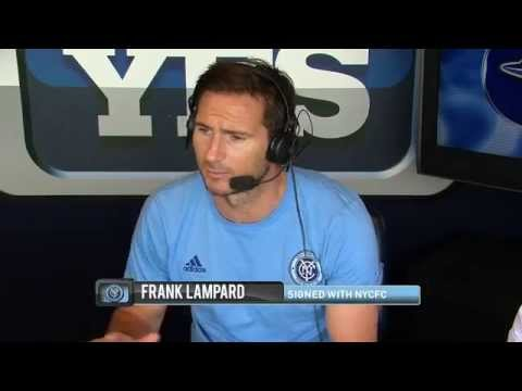 New NYC FC signee Frank Lampard visits the Yankees broadcast booth