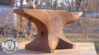 The Abandoned Anvil ~ RESCUED & RESTORED w/ a Custom Stand ~ RESTORATION