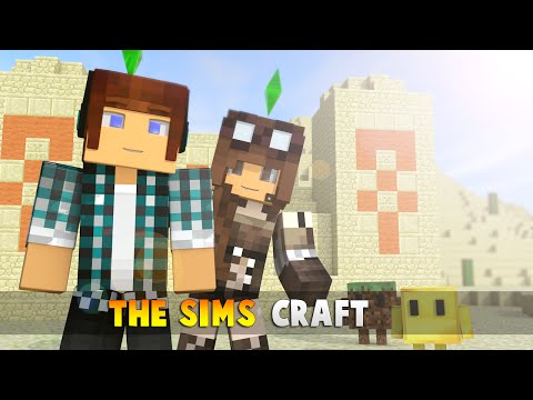 The Sims Craft Ep.35 - Templo com Tesouros e Casa de Doces !! - Minecraft
