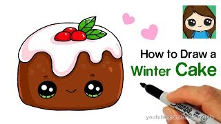 How to Draw a Christmas Chocolate Baby Cake Easy