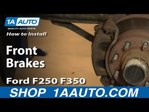 How to Install Replace Front Brakes Ford F250 F350 Super Duty 00-04 1AAuto.com