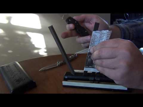 Spyderco Sharpmaker : measuring edge angles