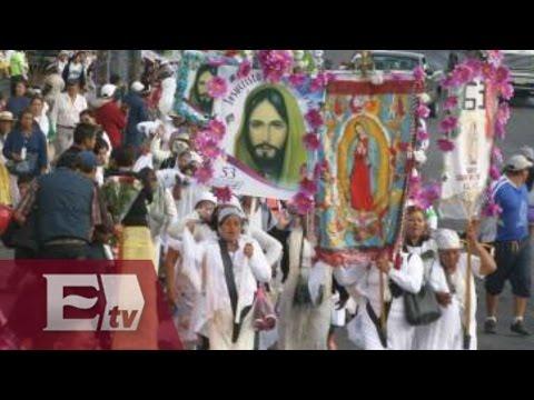 Miles de creyentes llegan al santuario de la Virgen de Guadalupe en Mérida, Yucatán