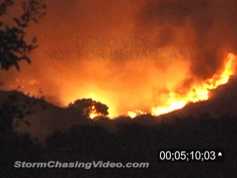 10/25/2003 - 10/27/2003 CA Wild Fires Stock Footage