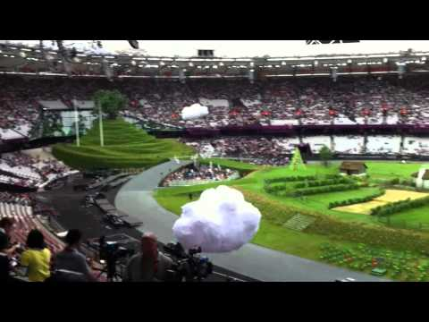 Buzz in the London Olympic Stadium before the Opening Ceremony