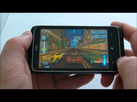 HTC 7 Trophy - 3D games