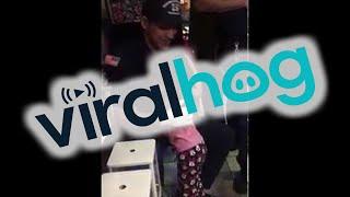 Little Girl Stuck in Gum Ball Machine, Wins Hug From Fireman || ViralHog