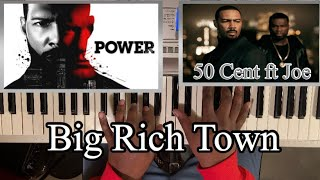 50 CENT ft JOE - BIG RICH TOWN (POWER THEME SONG) PIANO TUTORIAL Db MAJOR