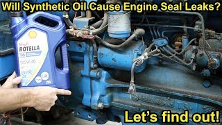 Will Synthetic Motor Oil Cause Engine Seal Leaks? Let's find out!