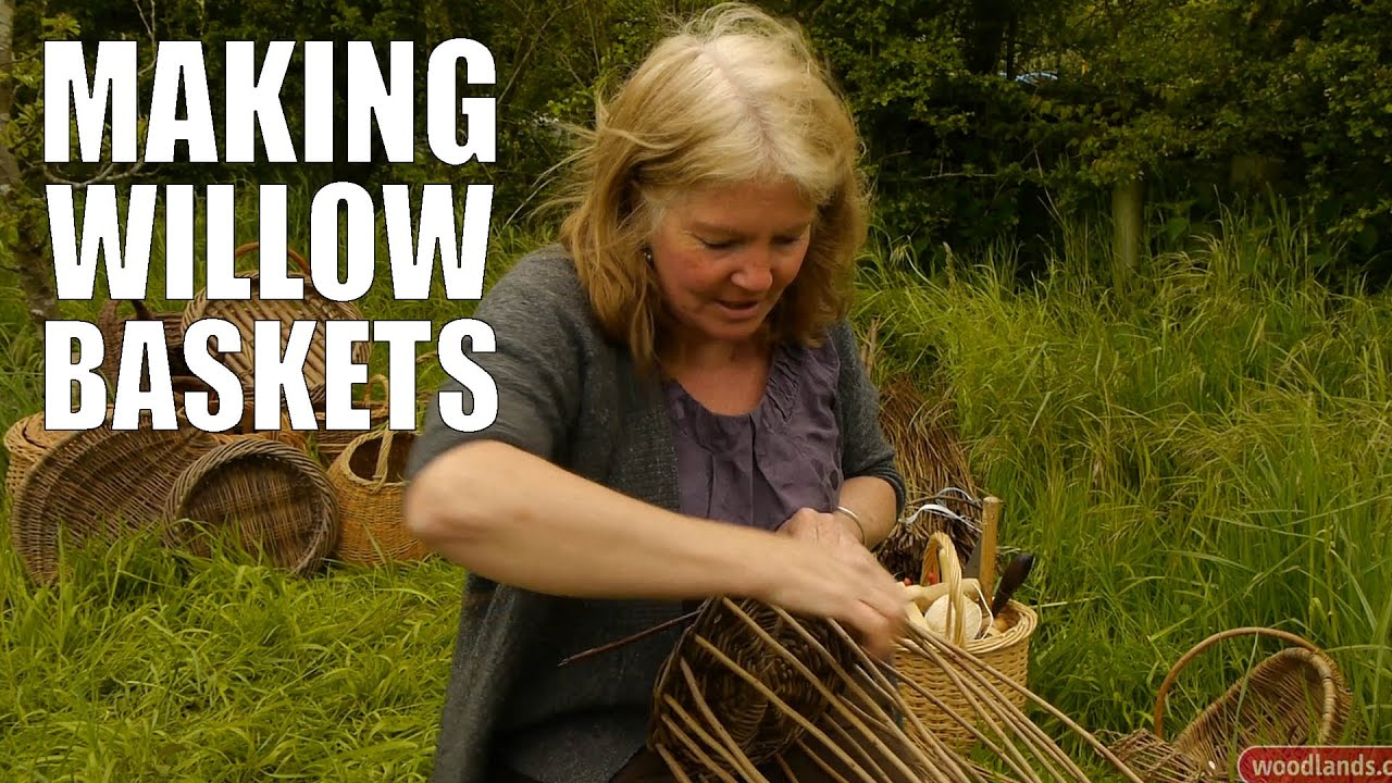 Basket Weaving With Willow Branches : Making willow baskets