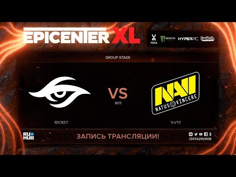 Secret vs Na'Vi, EPICENTER XL, game 3 [v1lat, godhunt]