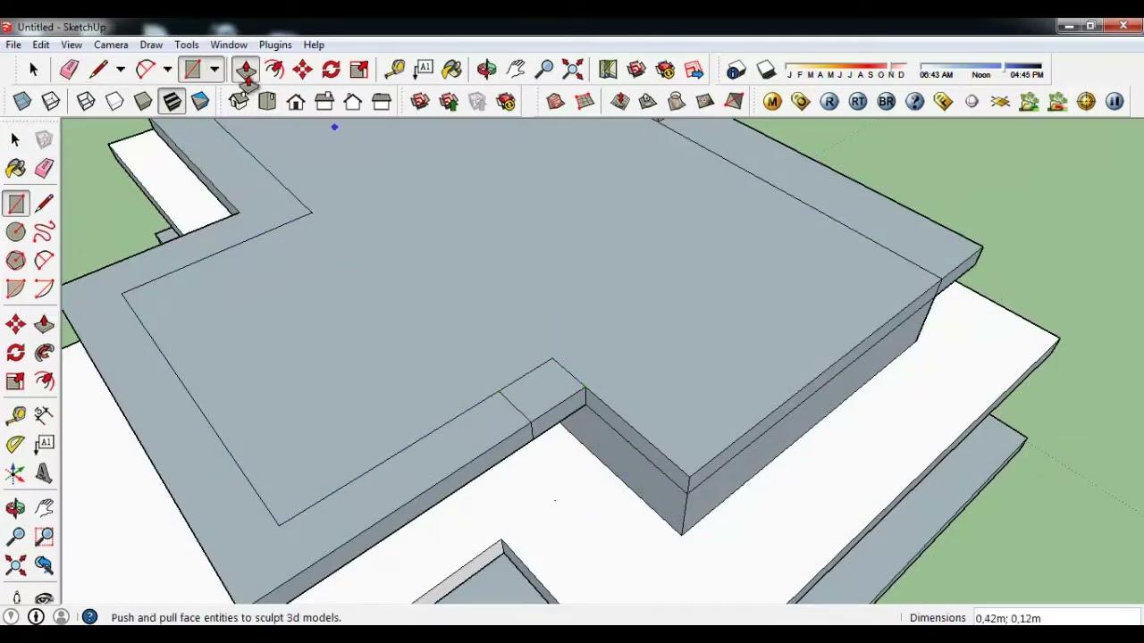 Sketchup texture august 2014 3d challenge modern for Modernes haus 3d