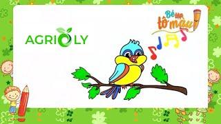 Bé Tập Tô Màu | Bé Tập Vẽ Và Tô Màu Con Chim
