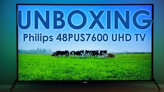 Philips 48PUS7600 UHD Android TV unboxing