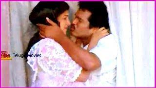 RajendraPrasad & Rambha  Lip Kiss Scene - In Aa Okkati Adakku Movie