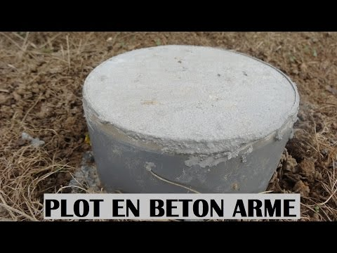 Faire Un Plot En Beton Arm Bton Raliser La