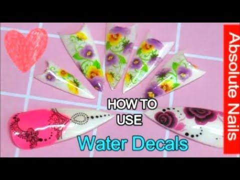 HOW TO USE WATER DECALS | ABSOLUTE NAILS