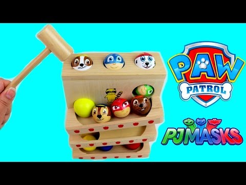 Best Baby Learning Colors Preschool Toys for Children Paw Patrol PJ Masks, Teach Toddler Wooden Toy